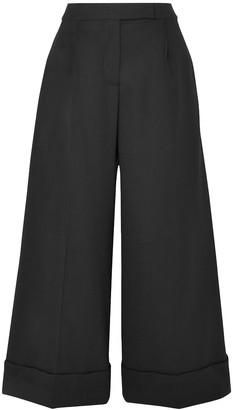 Simone Rocha Ruffle-trimmed Wool-blend Twill Wide-leg Pants