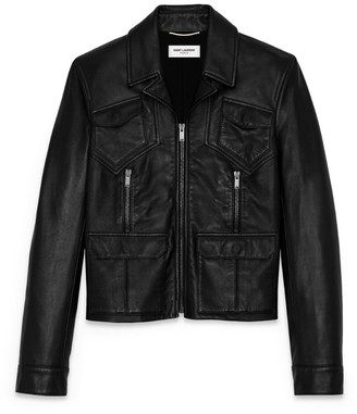 Saint Laurent Lambskin Leather Jacket