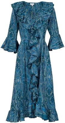 Felicity Dress- Blue Ripple
