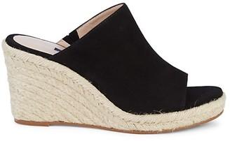 Stuart Weitzman Marabella Suede Espadrille Wedge Sandals