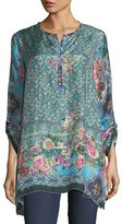 Johnny Was Besimo Silk Embroidered Tunic