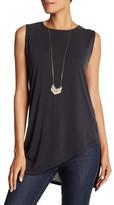 Bobeau Sleeveless Asymmetrical Shirt
