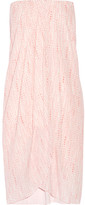 Hatch Panama Strapless Wrap-effect Printed Crepe Dress - Pink