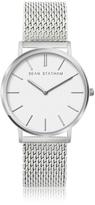 Sean Statham Stainless Steel Unisex Quartz Watch w/White Dial