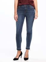 Old Navy Mid-Rise Built-In Sculpt Rockstar Raw-Hem Ankle Jeans for Women