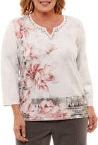 Alfred Dunner Lakeshore Drive Floral Pullover Sweater-Plus