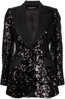 Dolce & Gabbana Sequin Blazer