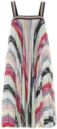 Missoni Striped metallic knit dress