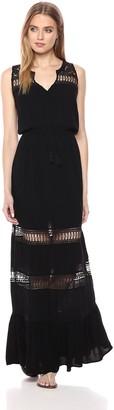 BB Dakota Women's Ranae Lace Detailed Maxi Dress