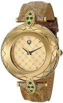 Brillier Women's 30-01 Analog Display Swiss Quartz Brown Watch