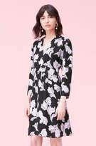 Rebecca Taylor Ikat Blossom V-Neck Dress