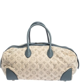 Louis Vuitton Limited Edition Blue Monogram Denim Speedy Round Bag