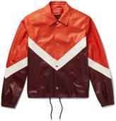 Valentino - Chevron Leather Jacket
