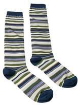 Missoni Gm00cmd5219 0002 Green/navy Knee Length Socks.
