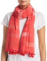 Eileen Fisher Striped Mini-Tassel Scarf