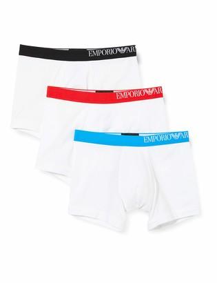 Emporio Armani Men's Multipack-B-Side Logo 3-Pack Boxer Shorts