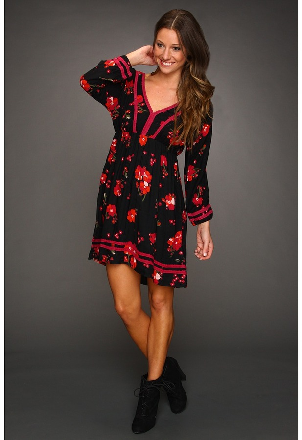 Roxy For Love Dress (Juniors) (Neon Berry Print) - Apparel
