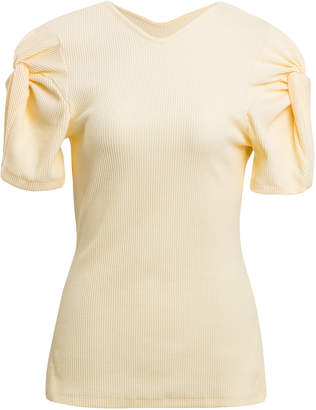 Maggie Marilyn Sweet Like Honey Gathered Cotton-Blend Top