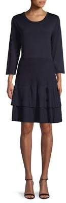 Eliza J Tiered Ruffle A-Line Dress