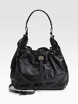 Leather Drawstring Hobo