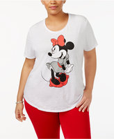 Freeze 24-7 Trendy Plus Size Cotton Minnie Mouse Graphic T-Shirt