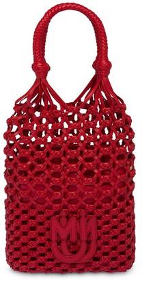 Miu Miu Macrame branded handbag