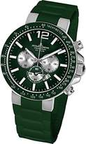 Jacques Lemans Milano 1-1696E Men's Chronograph Green Silicone Strap Watch