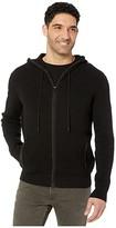 Calvin Klein Textured Hoodie Full Zipper - 12GG (Black) Men's Sweater