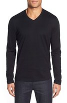 BOSS Men's 'Tyson' V-Neck Long Sleeve T-Shirt