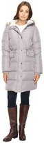 Kenneth Cole New York Quilted Coat with Fur Hood