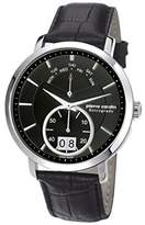 Pierre Cardin Pompe Men's Quartz Watch with Black Dial Analogue Display and Black Leather Strap PC107071S02
