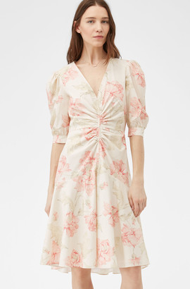 Rebecca Taylor La Vie Peonies Poplin Dress