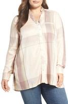 Melissa McCarthy Plus Size Women's One Pocket High/low Shirt