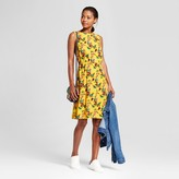 A New Day Women's Floral Crepe Tank Dress - A New Day Gold