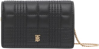 Burberry Jessie Quilted Leather Wallet on a Chain