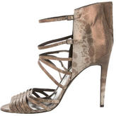 Pierre Hardy Metallic Strappy Sandals