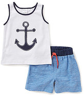 Starting Out Baby Boys Anchor-Applique Tank & Pull-On Shorts Set