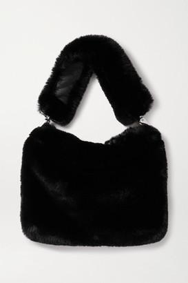 Stand Studio Luna Faux Fur Shoulder Bag - Black