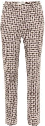 Etro Cropped jacquard pants