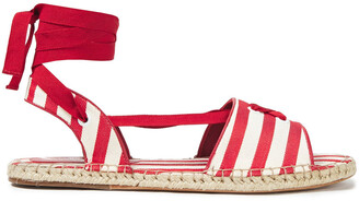 Zimmermann Lace-up Striped Cotton-canvas Espadrille Sandals