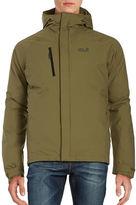 Jack Wolfskin Breathable Waterproof Hooded Activewear Jacket