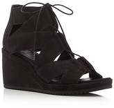 Eileen Fisher Lace Up Wedge Sandals