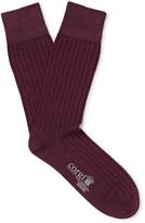 Corgi - Ribbed Cotton-blend Socks
