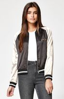 KENDALL + KYLIE Kendall & Kylie Two-Tone Satin Bomber Jacket