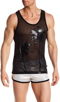 Andrew Christian Palm See-Through Tank