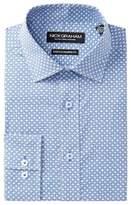 Nick Graham Modern Trim Fit Geo Print Dress Shirt