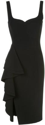 Jason Wu Collection side ruffle crepe dress