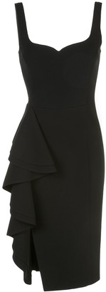 Jason Wu Collection Side Ruffle Crepe Dress