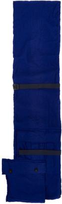 Sacai Blue Wool Shrivel Pocket Scarf