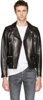 Saint Laurent Black Leather Classic L01 Motorcycle Jacket